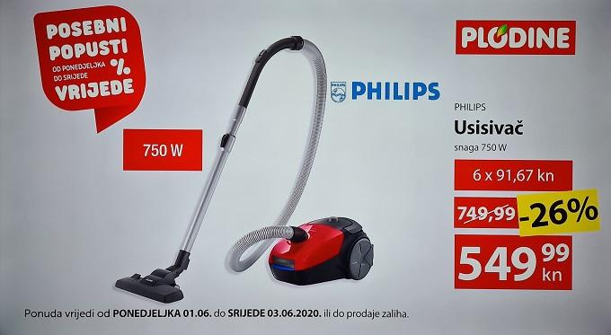 Plodine akcija Philips usisavač