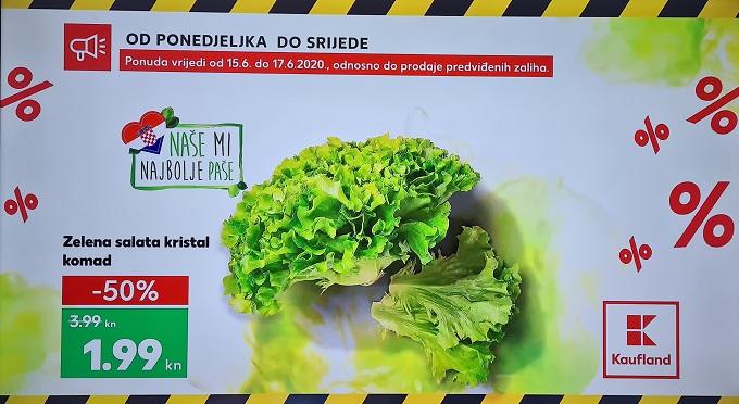Kaufland akcija zelena salata