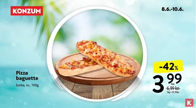 Konzum akcija pizza baguette