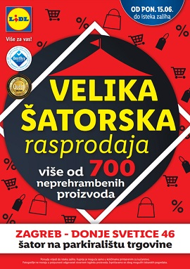 Lidl katalog Šatorska rasprodaja
