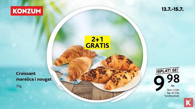 Konzum akcija croissant