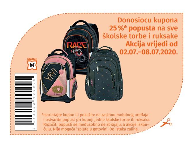 Muller kupon školske torbe ruksaci