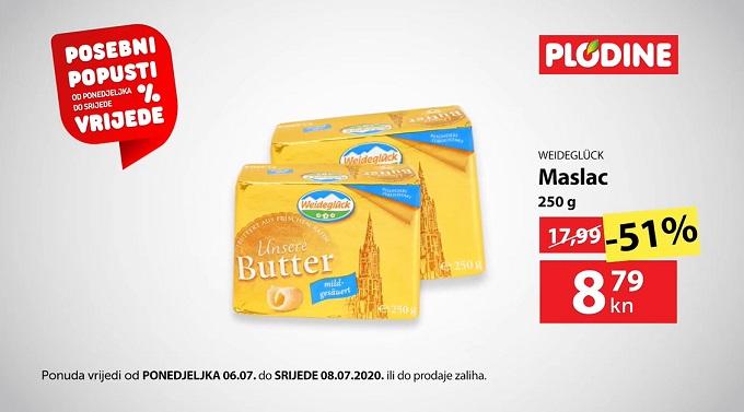 Plodine akcija maslac