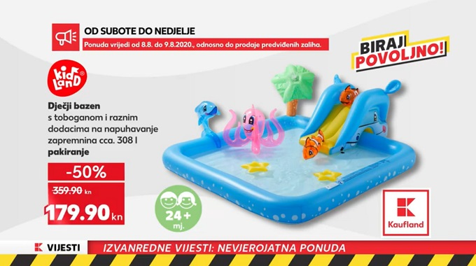 Kaufland akcija djecčji bazen