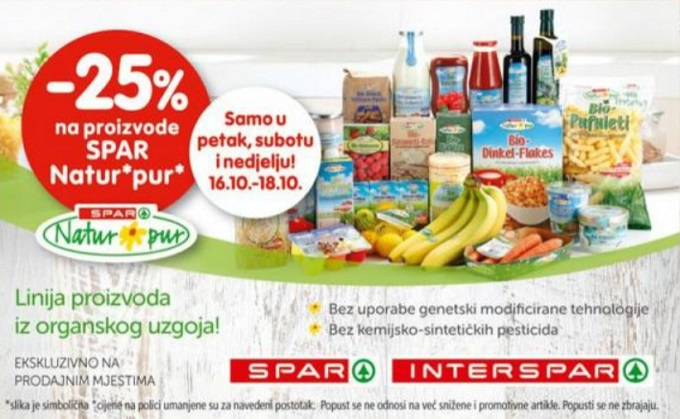 Interspar vikend akcija natur pur