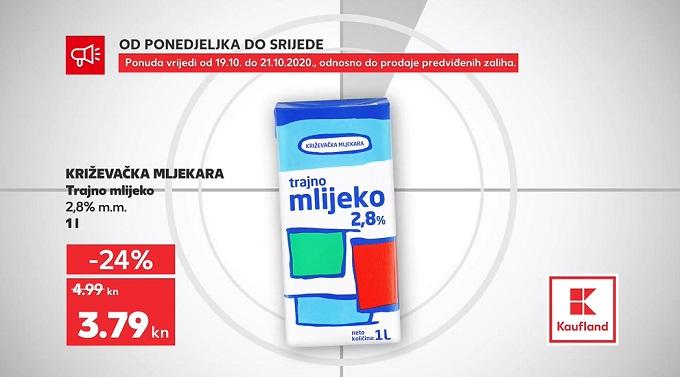 Kaufland akcija trajno mlijeko
