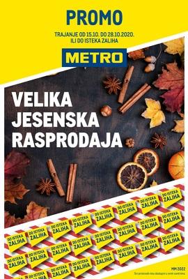 Metro katalog Velika jesenska rasprodaja