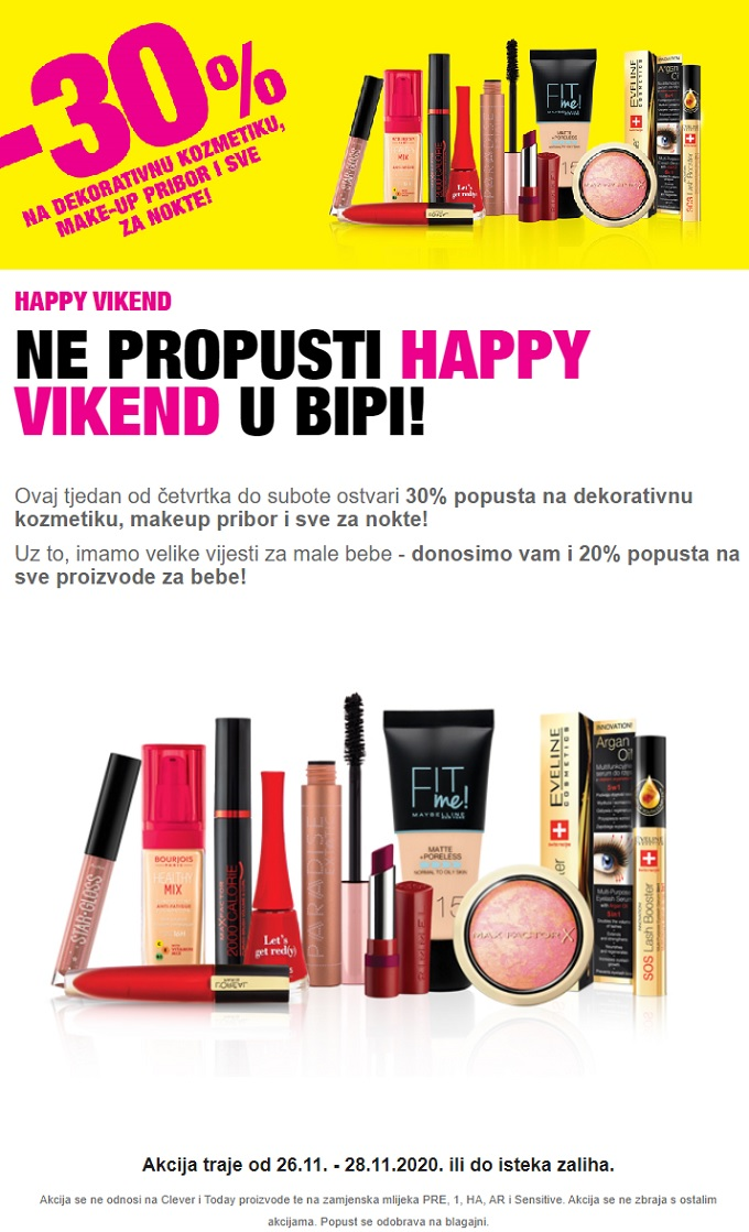 Bipa vikend akcija do 28.11.