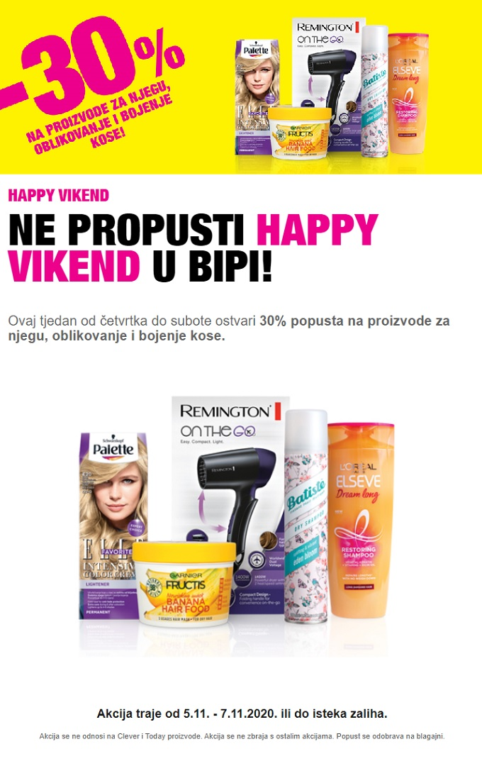Bipa vikend akcija do 7.11.