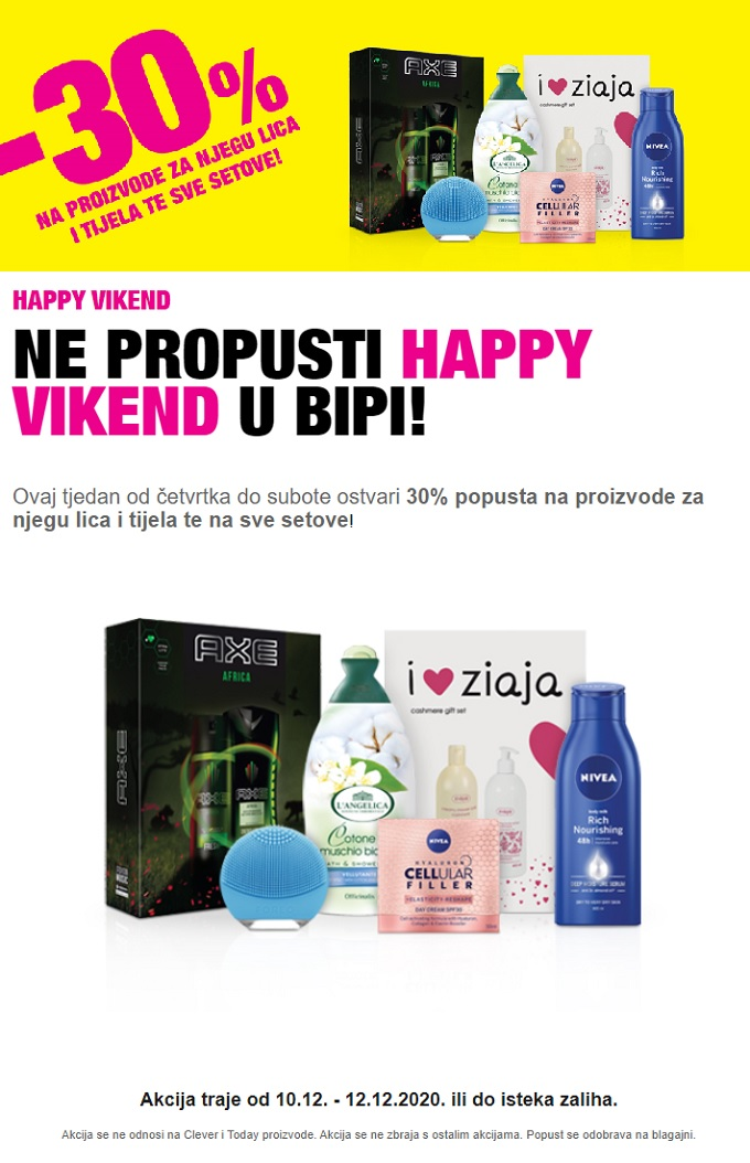 Bipa vikend akcija do 12.12.