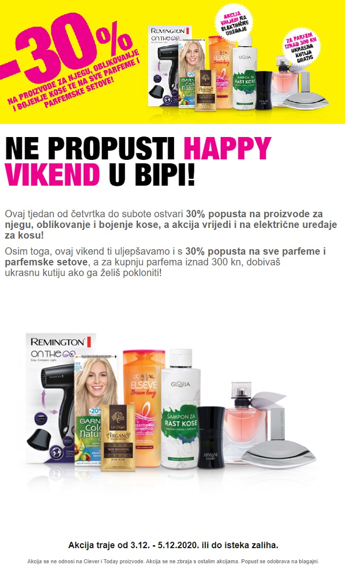 Bipa vikend akcija do 5.12.