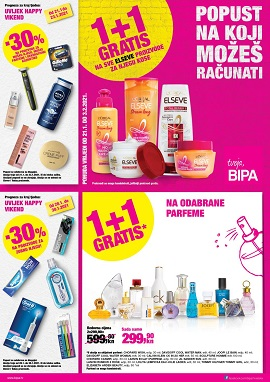 Bipa katalog 1+1 gratis do 3.2.
