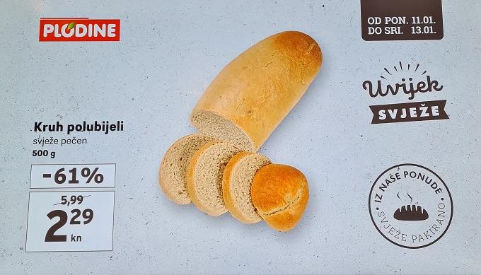 Plodine kcija kruh polubijeli