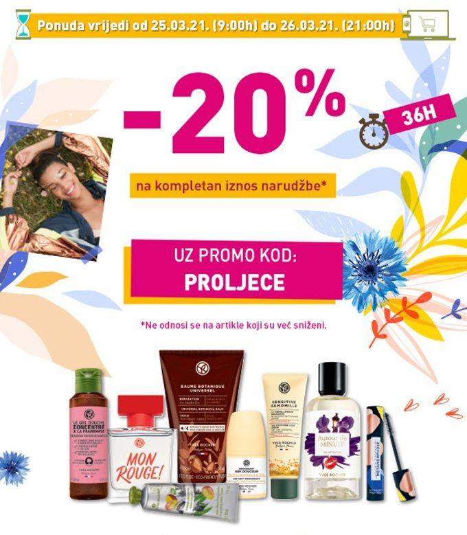 Yves Rocher webshop akcija 20% na kompletnu narudzbu