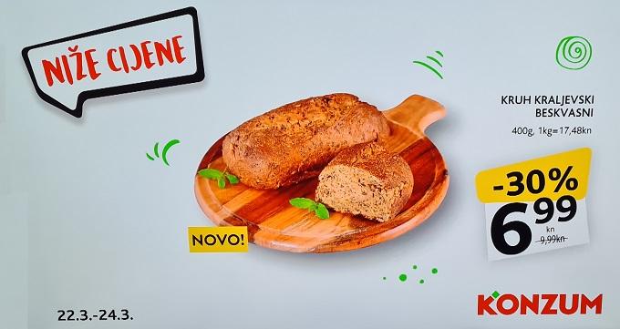 Konzum akcija kruh beskvasni