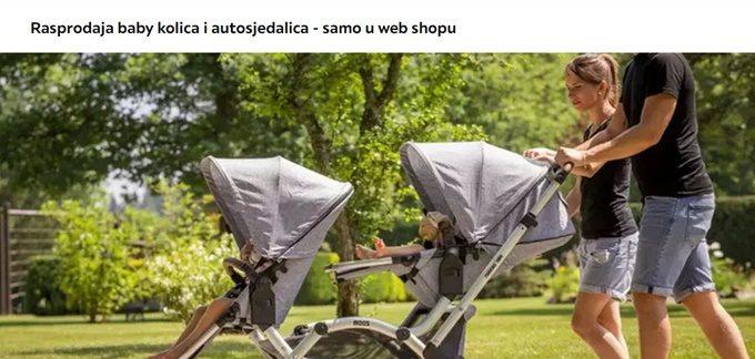 Lesnina webshop akcija dječja kolica i autosjedalice