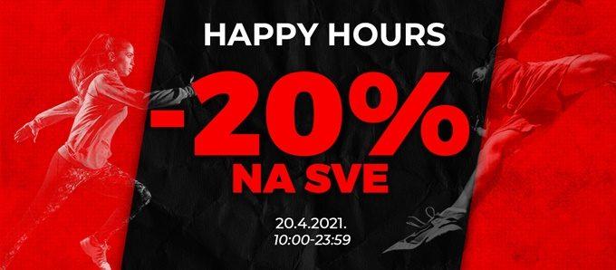 Sport Vision webshop akcija Happy hours 20.04.