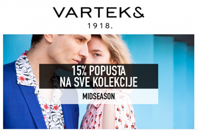 Varteks webshop akcija 15% na sve kolekcije