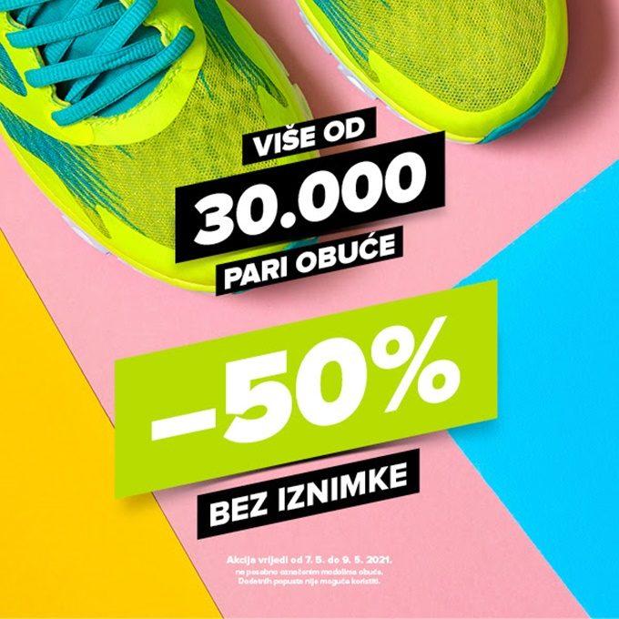 Hervis webshop akcija 50% na obuću