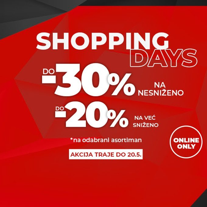 Sport Vision webshop akcija Shopping days do 20.05.