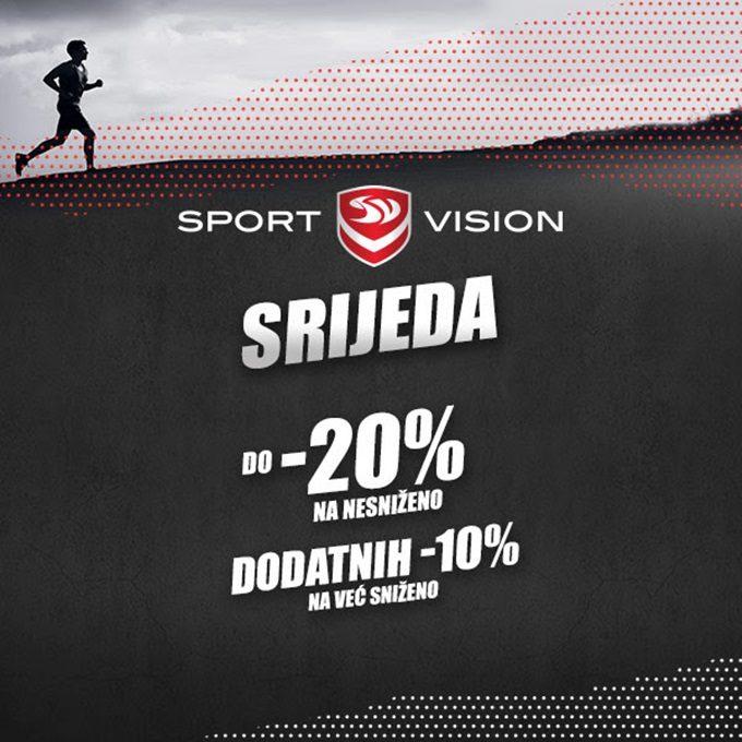 Sport Vision webshop akcija Sport Vision srijeda