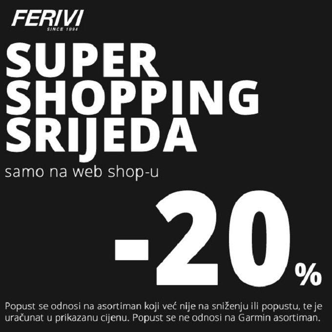 Ferivi Sport webshop akcija Super shopping srijeda 09.06.