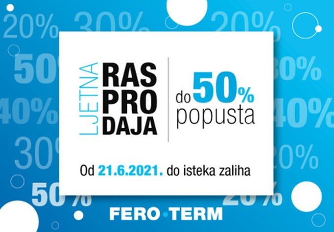 Feroterm webshop akcija Ljetna rasprodaja do 50% popusta