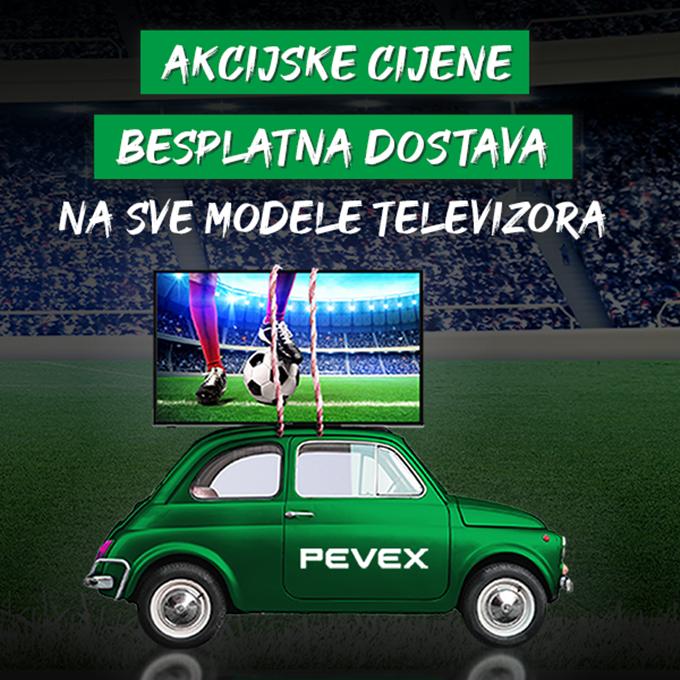 Pevex webshop akcija Teleizori + besplatna dostava