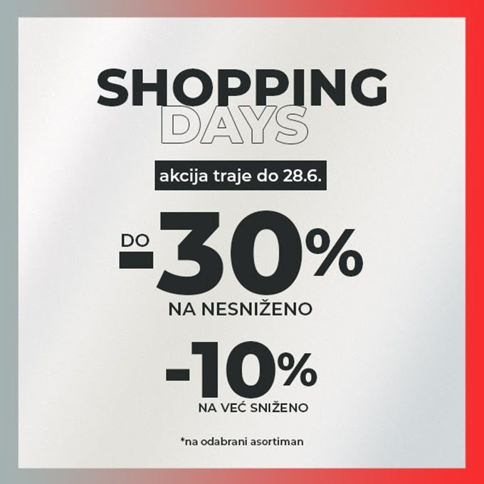 Sport Vision webshop akcija Shopping days do 28.06.