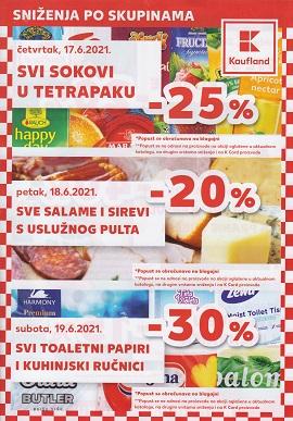 Kaufland katalog Sniženje po skupinama do 22.6.