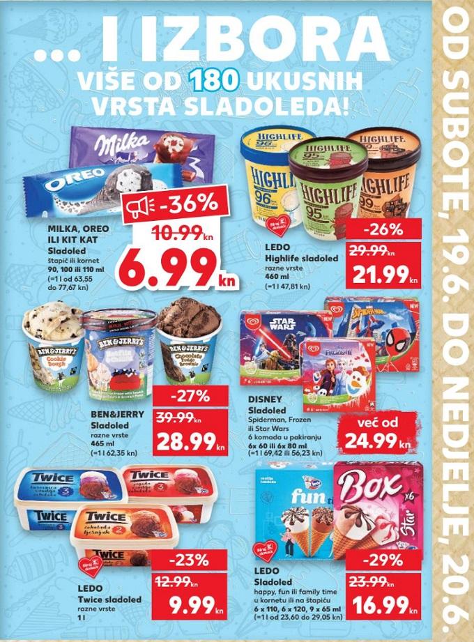 Kaufland vikend akcija sladoledi