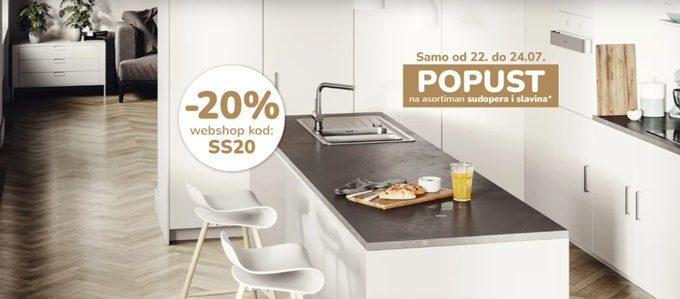 Mima Namještaj webshop akcija 20% na sudopere i slavine