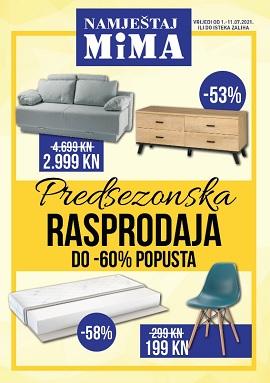 Mima namještaj katalog Predsezonska rasprodaja