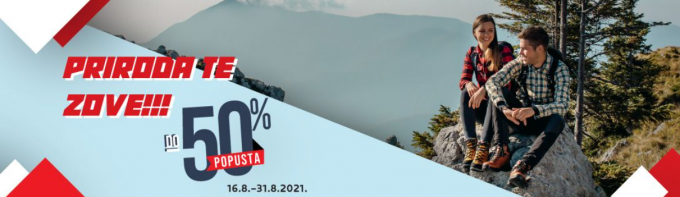 Alpina webshop akcija do 31.08. 50 posto popusta