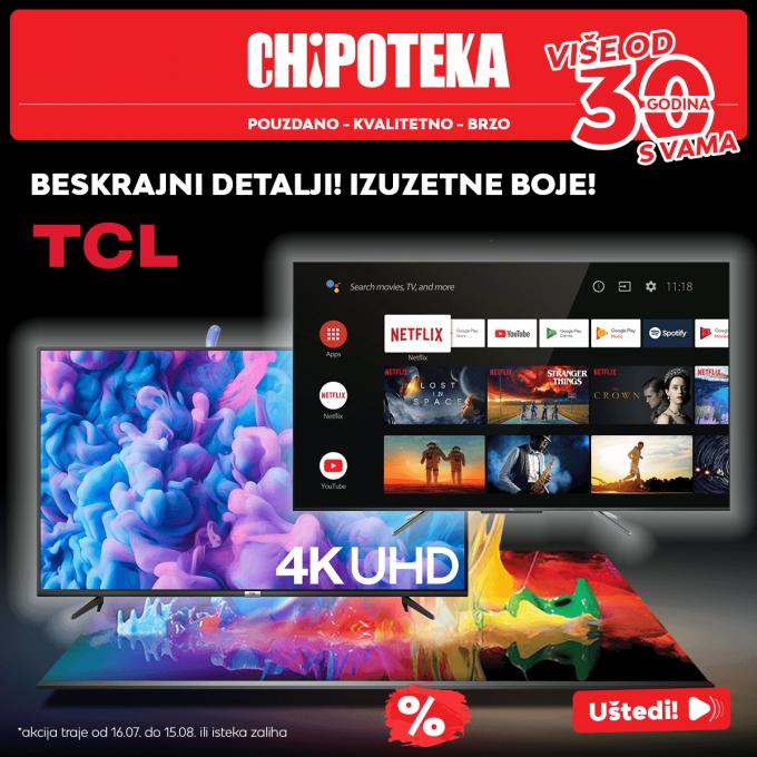 Chipoteka webshop akcija Android TCL televizori