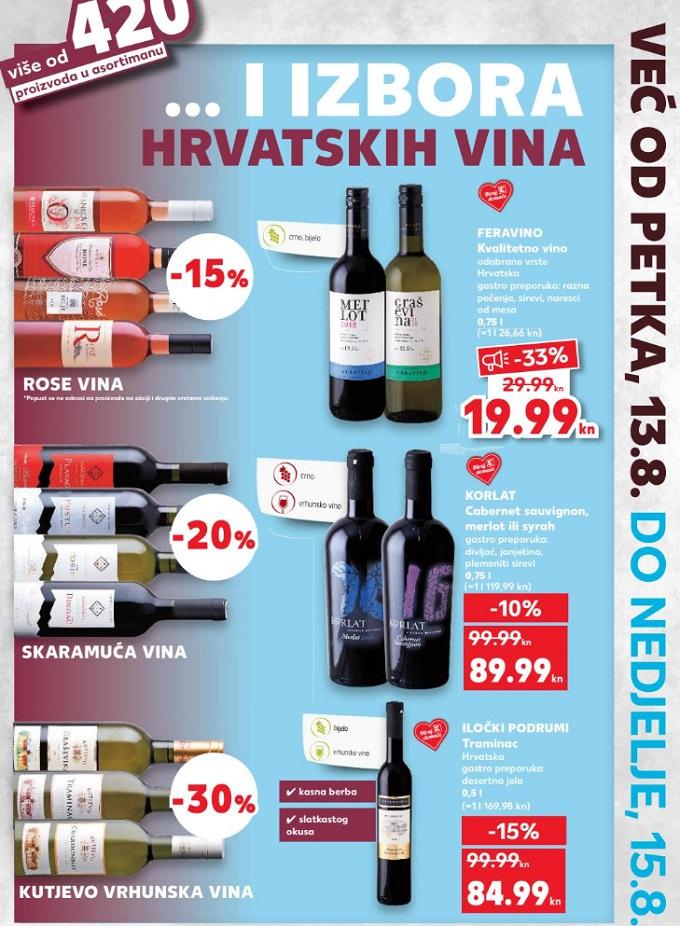 Kaufland vikend akcija vina