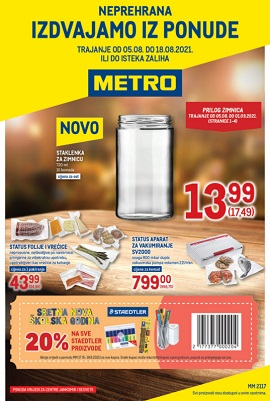 Metro katalog neprehrana Jankomir Sesvete do 18.8.