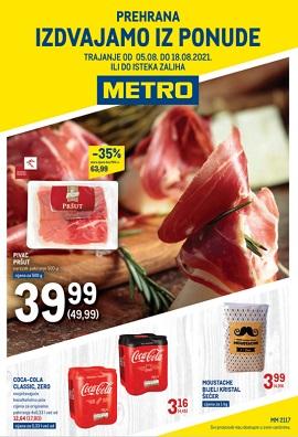 Metro katalog prehrana Rijeka, Osijek, Zadar do 18.8.