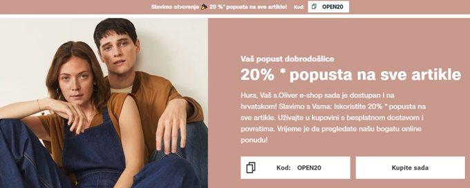 s.Oliver webshop akcija 20% popusta na sve