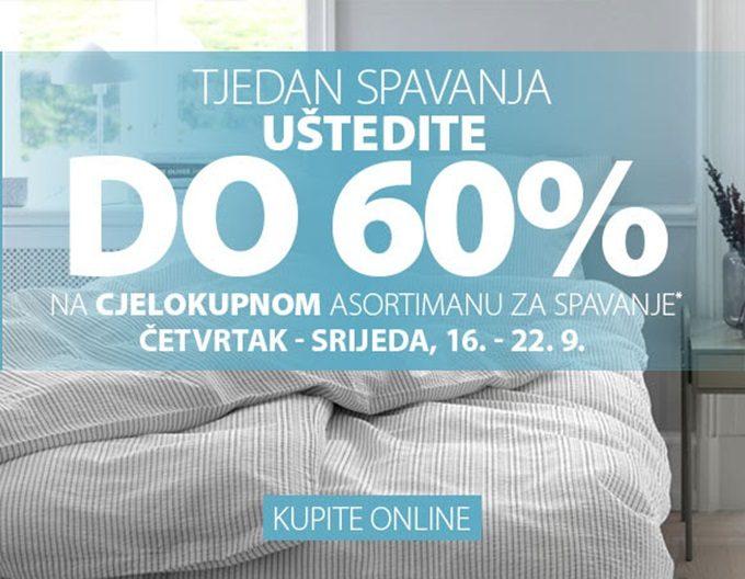 Jysk webshop akcija Tjedan spavanja do 22.09.
