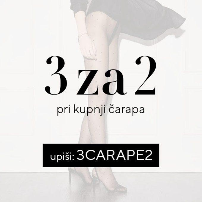 Lisca webshop akcija Čarape 3 za 2