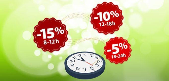 Topshop webshop akcija Happy hours 13.09.
