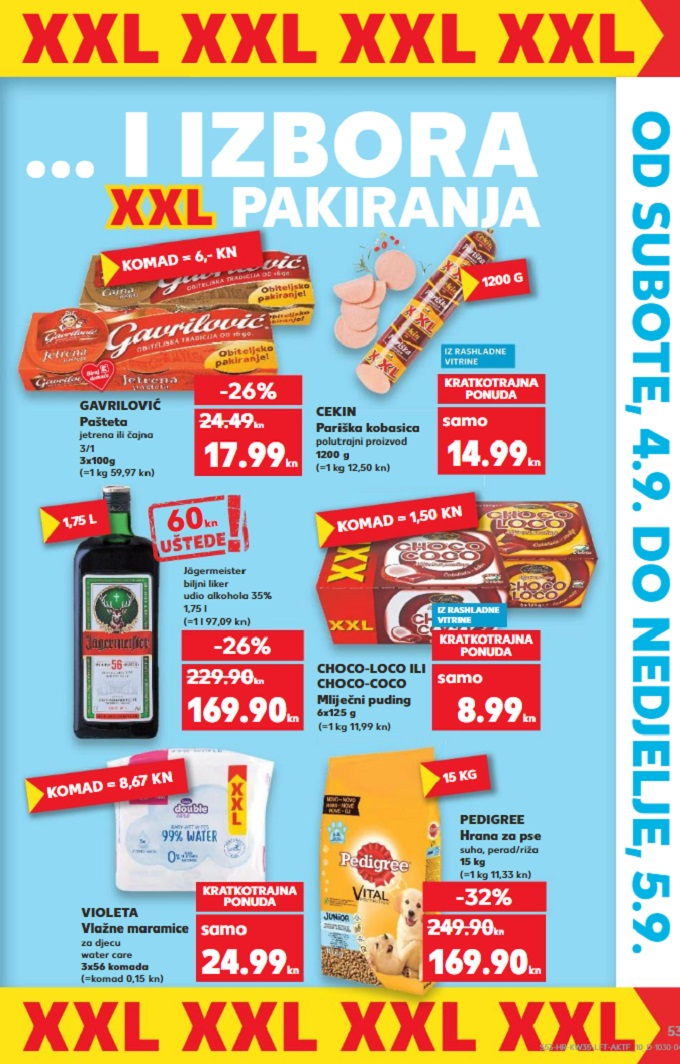 Kaufland vikend akcija xxl