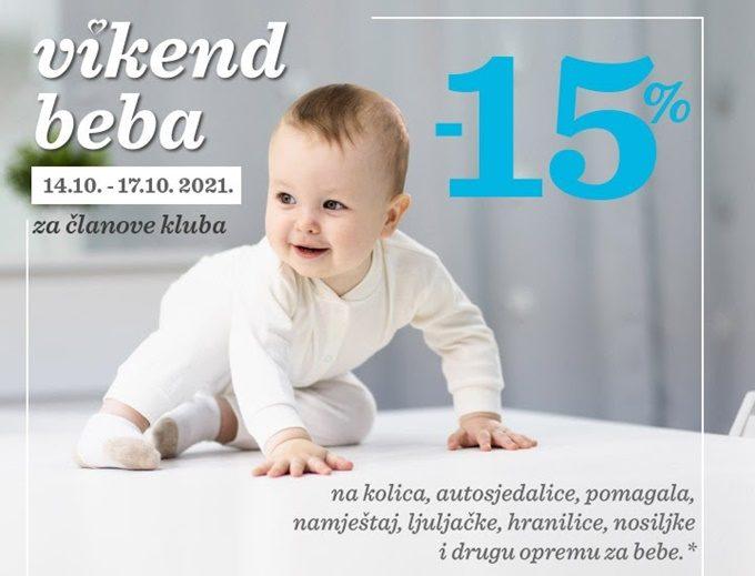 Baby Center webshop akcija Vikend beba
